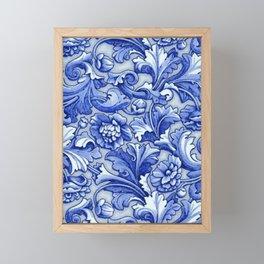Blue and White Porcelain Framed Mini Art Print