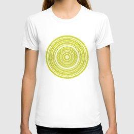 Lime green dot art painting T-shirt