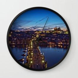 Prague Twilight Wall Clock
