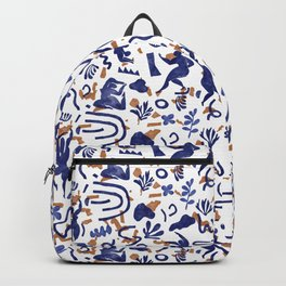 Abstract women between shapes I Backpack