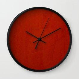 Italian Style Red Stucco - Corbin Henry Wall Clock