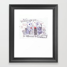 Don't tell me what to do. You're not my mom. Framed Art Print