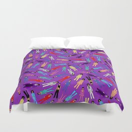 Purple Pattern 2 Duvet Cover