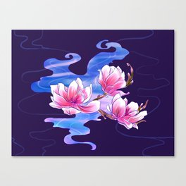 Magnolia night Canvas Print