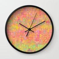 metropolis Wall Clocks featuring Metropolis  by Lisa Argyropoulos