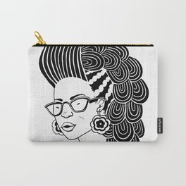 Black & White Natural Hair 1 Carry-All Pouch