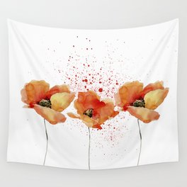 Three Poppies #society6 Wall Tapestry