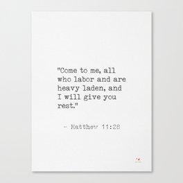 Matthew 11:28 Canvas Print