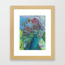 be free on land air and sea Framed Art Print