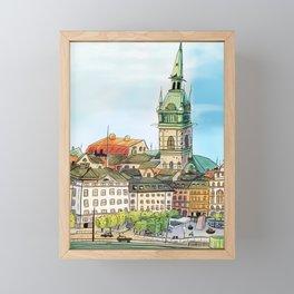 Old town Stockholm Sweden Framed Mini Art Print