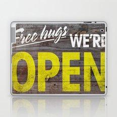Free Hugs We're Open Laptop & iPad Skin