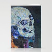 gustav klimt Stationery Cards featuring Death and Life by Gustav Klimt by cvrcak