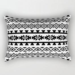 Aztec Stylized Shapes Pattern BW Rectangular Pillow