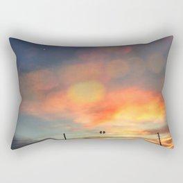 Love birds in the sunset Rectangular Pillow