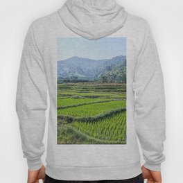 Farmland | Rice Fields Turkey European Agriculture Green Landscape Photograph Rolling Hills Mountain Hoody