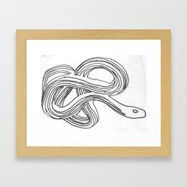 the other snake Framed Art Print