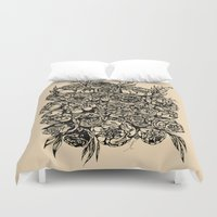 wedding Duvet Covers featuring Wedding Flowers  by Felicia Atanasiu