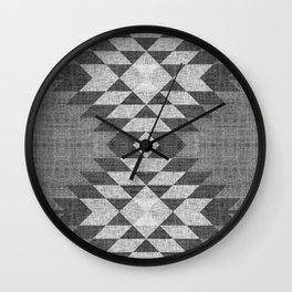 GREY DIAMOND LINEN Wall Clock