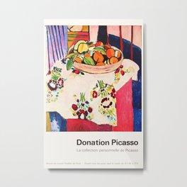 Donation Picasso Exhibition poster - Musée du Louvre Metal Print