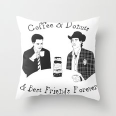TWIN PEAKS - Dale Cooper and Harry Truman Throw Pillow