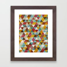 Triangles Circus Oil Framed Art Print