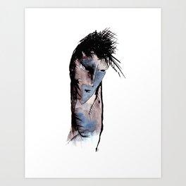 Sad man Art Print