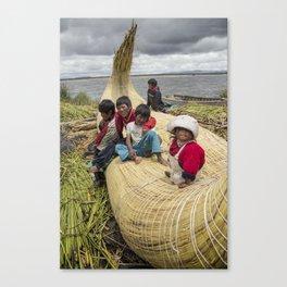 Titicaca lake Uros Canvas Print