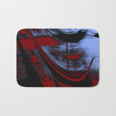 Impressionist Old Red Sailship Bath Mat