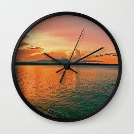 Pure Sunset Wall Clock