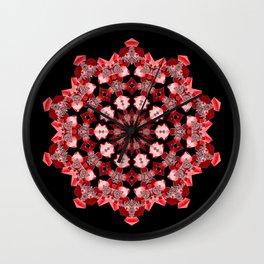 Ornamental Star (red) Wall Clock