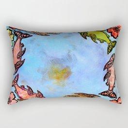 Fish Wheel Rectangular Pillow