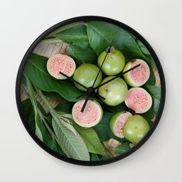 FRUITS & LEAVES Wall Clock