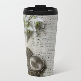 Snowdrops and Vintage Watches Travel Mug