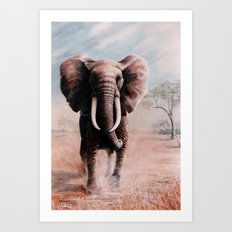 Charge  painting Art Print