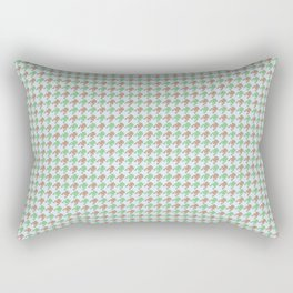 Amphibians Hopping Houndstooth Pattern Rectangular Pillow