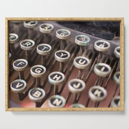 Antique typewriter keys Serving Tray