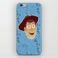 toy story iPhone & iPod Skins featuring Woody - Toy Story by Kuki