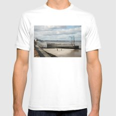 Somewhere  MEDIUM White Mens Fitted Tee