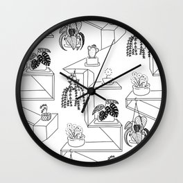 Plant on shelf Wall Clock