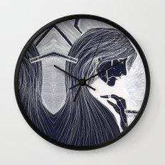 Cyborg Woman (Dark) Wall Clock