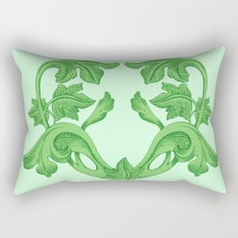 GREEN HEART  Rectangular Pillow