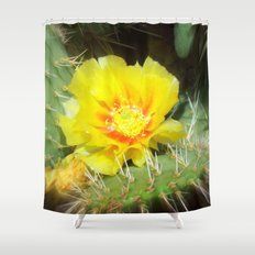 Prickly Yellow Beauty Shower Curtain
