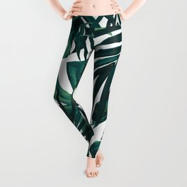 Tropical Jungle Leaves Pattern #1 #tropical #decor #art #society6 Leggings