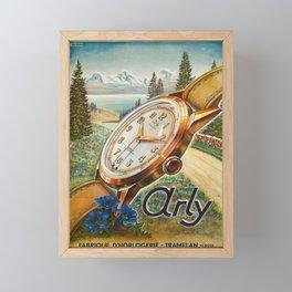 Werbeplakat arly fabrique dhorlogerie tramelan Framed Mini Art Print