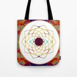 1000 Petalled Lotus Abstract Chakra Art Tote Bag