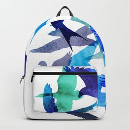 Watercolor birds abstract Backpack