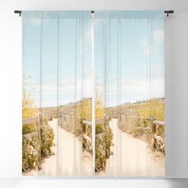 Travel photography Spring pathway I Blackout Curtain