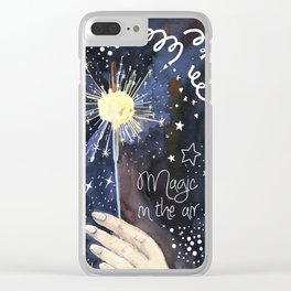 magic in the air - fire in the hand Clear iPhone Case