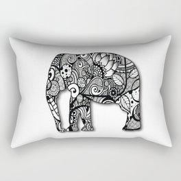 Zentangel Elephant Rectangular Pillow