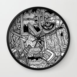 Geometric Mutations: Kansas City, MO Wall Clock